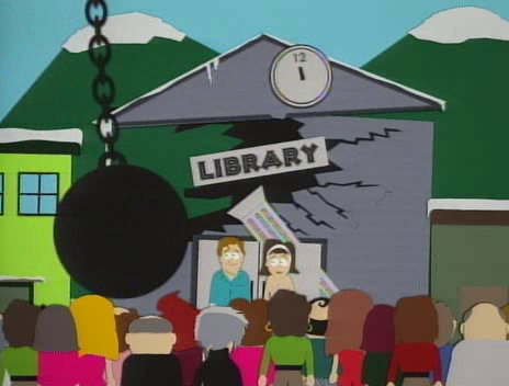 South Park- library destroyed